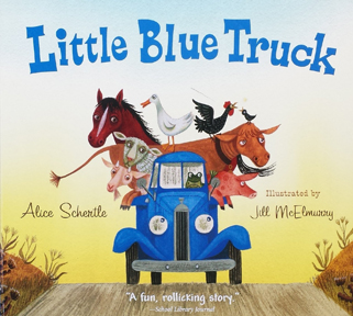 Cover of little blue truck