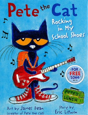 Afbeeldingsresultaat voor pete the cat rocking in my school shoes