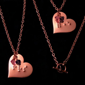 Picture of Braille BFF Necklaces (Set of two)