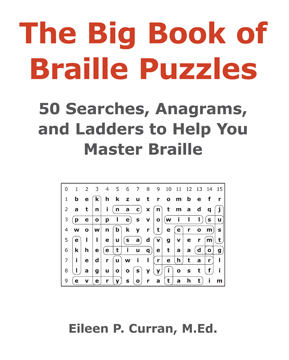 Book cover for the Big Book of Braille Puzzles