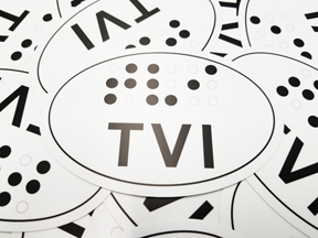 "Picture of ""Braille"" Bumper Sticker: TVI"