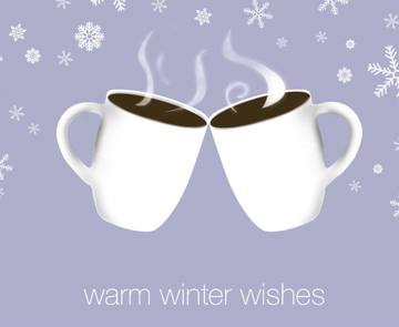 Warm Winter Wishes Print/Braille Holiday Cards