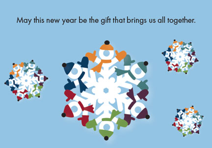 Together Print/Braille Holiday Cards