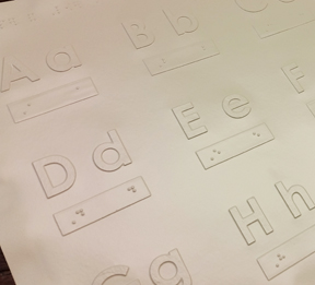 Picture of Tactile Alphabet Letters and Numbers
