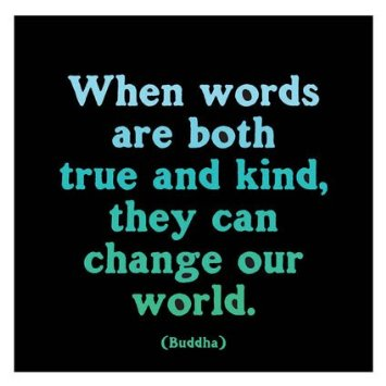 "Picture of Magnet: ""When words are both true and kind"""