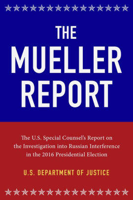 book cover of the mueller report