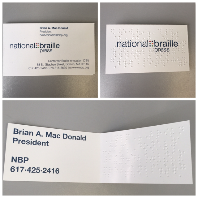 Braille business cards nbp braille business cards reheart Choice Image