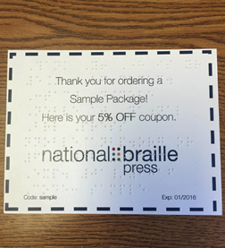 Braille Coupon