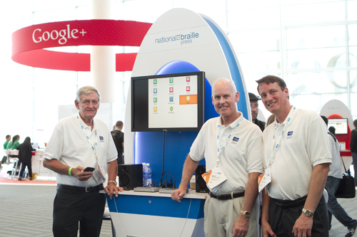 Deane Blazie, Brian Mac Donald, and Bryan Blazie at 2012 Google I/O Conference.