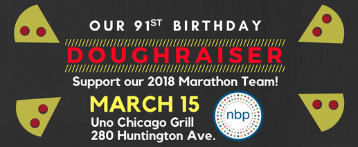 banner image for doughraiser shows date, nbp logo, small images of pizza slices
