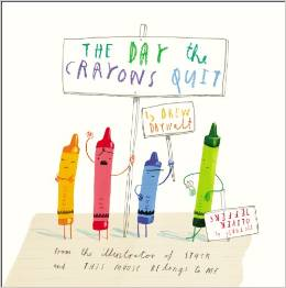 Activity page for The Day the Crayons Quit Book