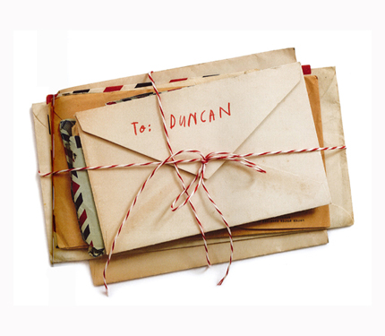 bundle of letters addressed to Duncan