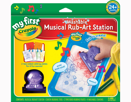 Photo of the Musical Rub Art Station set.
