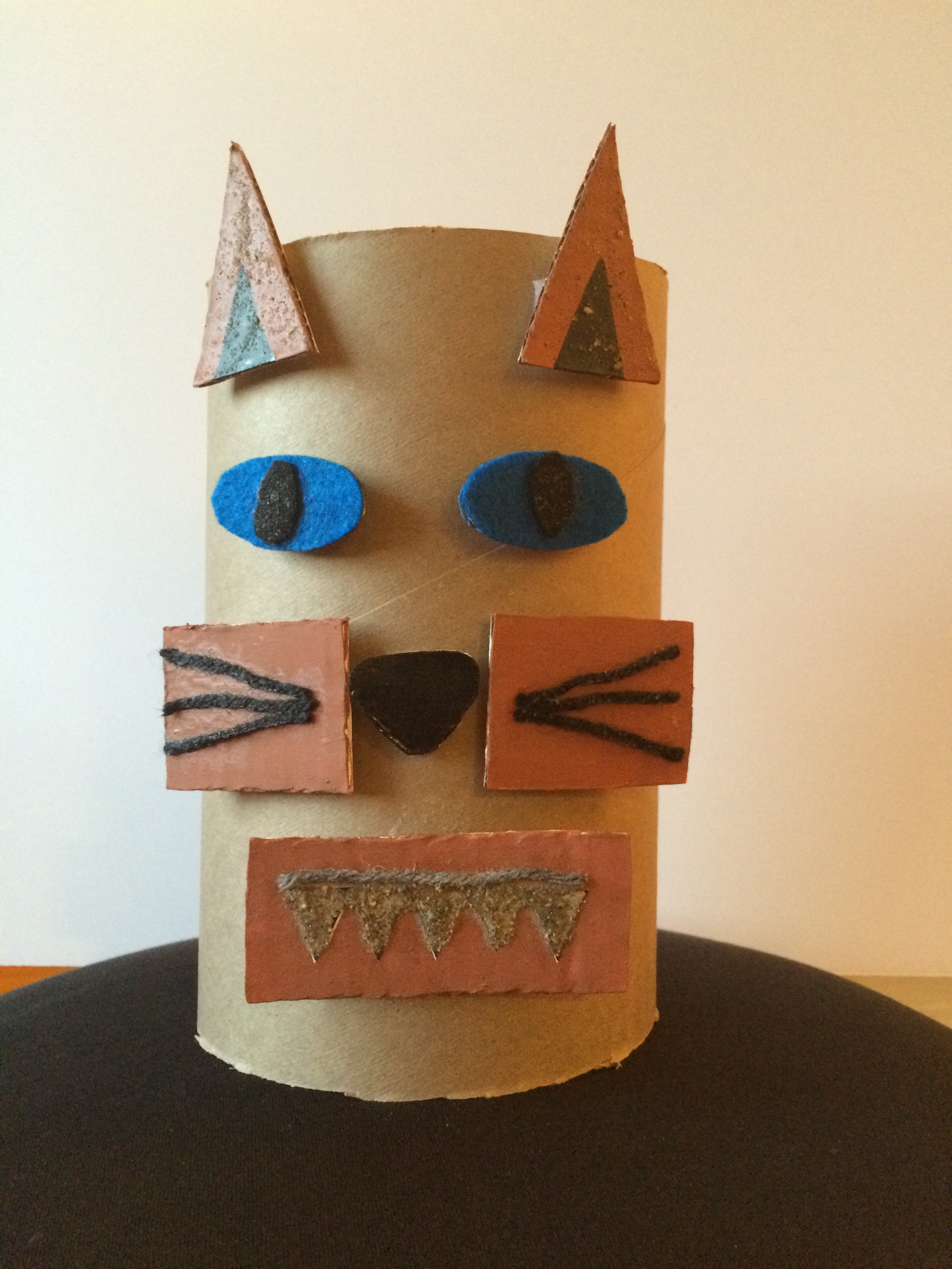 completed fox mask