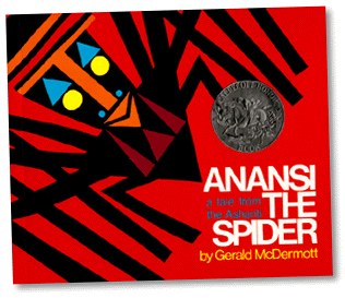 Book cover for Anansi the Spider