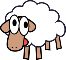 cartoon drawing of a sheep