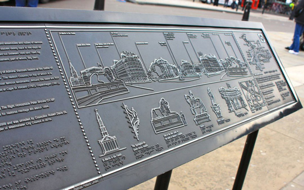 Photo of an outdoor tactile map/plaque