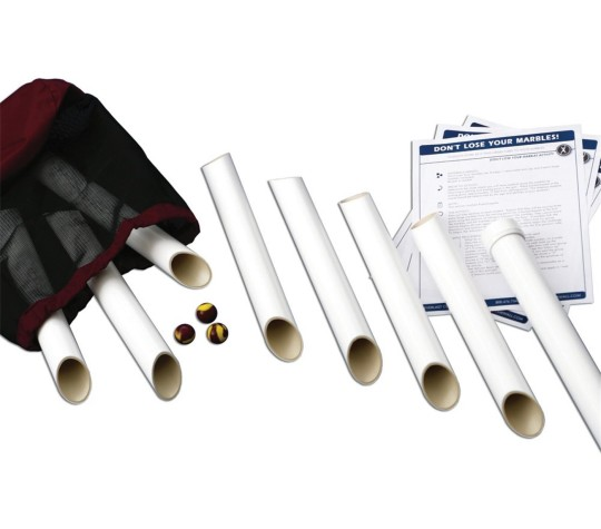 Materials that are part of the marble run kit