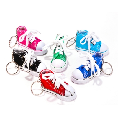 Canvas sneaker keychains