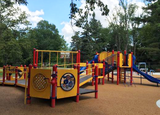 Photo of the playground at Perkins School for the Blind.