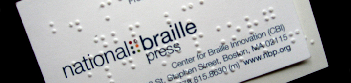 Braille business cards nbp about us reheart Images